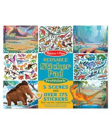Melissa & Doug Reusable Prehistoric Sticker Pad - Multicolor