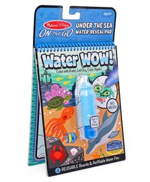 Melissa & Doug On The Go Under The Sea Water Reveal Pad - Multicolour