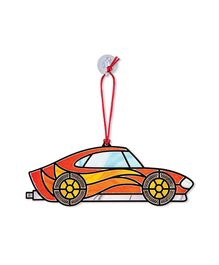 Melissa & Doug Stained Glass Made Easy Race Cars Ornaments Activity Kit Multicolor - 80+ Stickers