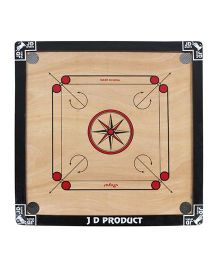 JD Sports Medium Wooden Carrom Board In Star - Cream and Black