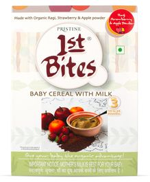 Pristine 1st Bites Ragi Strawberry & Apple Powder 10 Months to 24 Months Stage 3 - 300 gm
