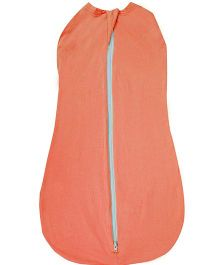My Stork Story Cotton Swaddle Cum Wrap - Orange