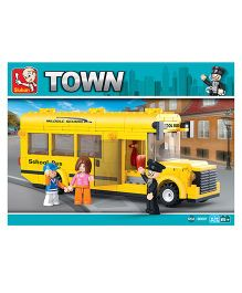 Sluban Small School Bus Building Block Game M38-B0507 - 219 Pieces
