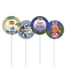 Disney Captain Jake and the Neverland Cupcake Toppers Pack of 10 - Multi Color