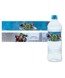 Avengers Water Bottle Labels Pack of 10 - Blue