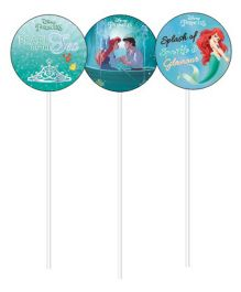 Disney Ariel the Mermaid Cupcake Food Toppers - Blue