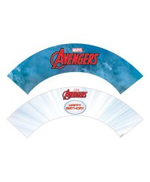 Marvel Avengers Cupcake Wrappers - Blue