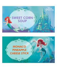 Disney Ariel The Mermaid Food Labels Pack of 10 - Green