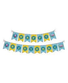 Peppa Pig Theme Bunting - Blue Yellow