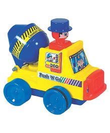 Deo Push N Go Cement Mixer Toy - Multi-Color
