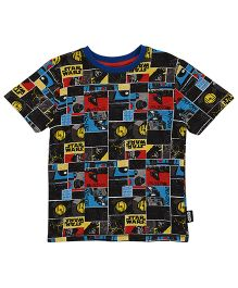Mothercare Half Sleeves T-Shirt Star Wars Print - Multi Color