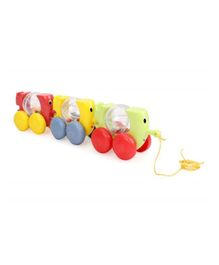Funskool Giggles Stackin & Linkin Pull Along Caterpals Toy - Multicolour