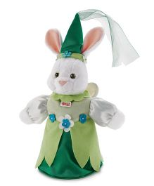 Trudi Hand Puppet Rabbit Fairy Green White - 30 cm