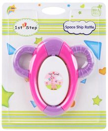 1st Step Space Ship Rattle - Pink & Purple