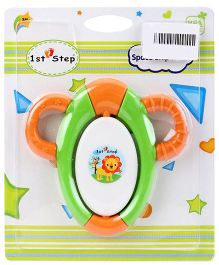 1st Step Space Ship Rattle - Green & Orange