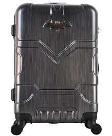 DC Comics Batman Gamme Embossed Design Luggage Trolley Bag Dark Grey - 20 Inches