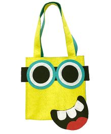 Li'll Pumpkins Funny Face Applique Felt Tote Bag - Yellow