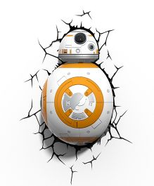 3D Light Star Wars Led Bulb - White And Orange
