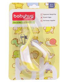 BabyHug Nail Clipper With Magnifier - Yellow And White
