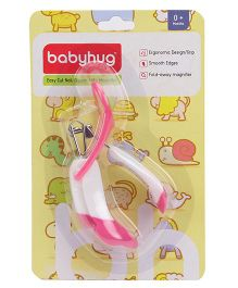 Babyhug Nail Clipper With Magnifier - Pink And White