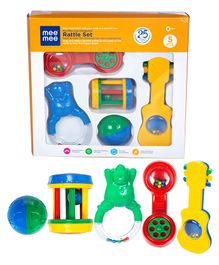 Mee Mee Cute Companion Rattle Set - Pack Of 5(Color May Vary)