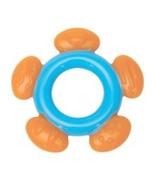 Mee Mee Silicone Teether - Orange and Blue