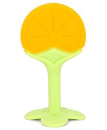 Mee Mee Silicone Teether - Yellow and Green