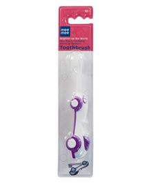 Mee Mee Kids Foldable Toothbrush - Purple And White
