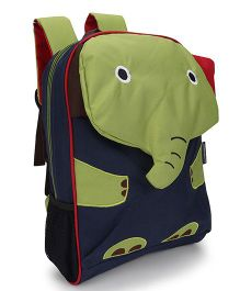 My Milestones Toddler Backpack Elephant Green - 13 Inches