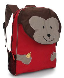 My Milestones Toddler Backpack Monkey Red - 13 Inches