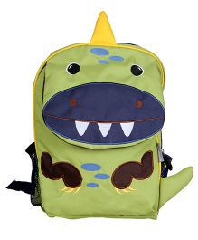 My Milestones Toddler Backpack Dino Green Navy - 13 inch