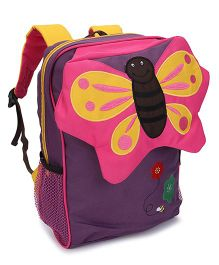 My Milestones Toddler Backpack Butterfly Purple - 13 Inches