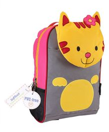 My Milestones Toddler Backpack Cat Orange Yellow - 13 Inches