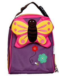 My Milestones Toddler Kids Lunch Bag Butterfly Purple - 9 inch