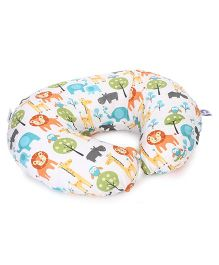 Chicco Boppy Pillow With Peaceful Jungle Slipcover - Multicolor