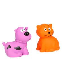 Giggles Animal Shaped Squeaky Bath Toys Pack of 2 (Color & Design May Vary)