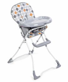 Babyhug Foodjoy Smart Folding High Chair With 5 Point Safety Harness - Grey
