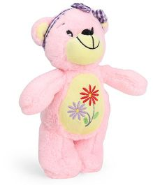 Starwalk Teddy Bear Soft Toy With Band Light Pink - 25 cm