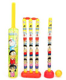 Doraemon 4 Wicket Cricket Set (Color May Vary)