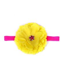 Pikaboo Floral Applique Headband - Yellow