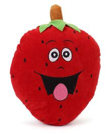 Playtoons Strawberry Shape Cushion - Red