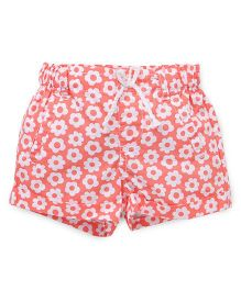 Pumpkin Patch Shorts Floral Print - Peach