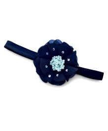 Little Miss Cuttie Elegant Pearl Beaded Flower Headband - Black