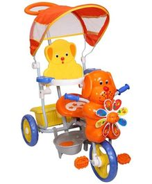 Mee Mee 2 in 1 Baby Tricycle with Rocking Function with Canopy Orange