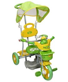 Mee Mee 2 In 1 Baby Canopy Tricycle With Rocker Function And Easy-To-Push Handle Green