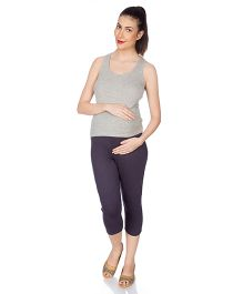 Goldstroms Maternity Capri Plain - Purple