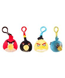 Angry Birds Back Pack Clip Pack Of 4 - Red Black Yellow Blue