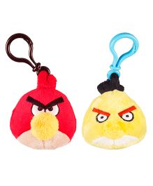 Angry Birds Back Pack Clip Pack Of 2 - Red Yellow