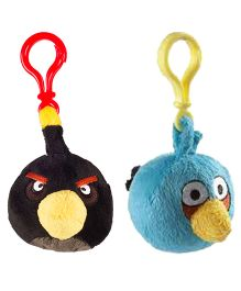 Angry Birds Back Pack Clip Pack Of 2 - Black Blue