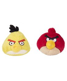 Angry Birds Soft Toys Pack Of 2 Yellow And Red - 21 cm